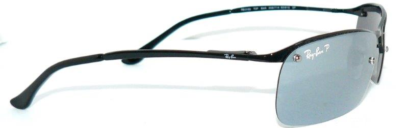Ray Ban RB 3183 Sunglasses Polarized Black Mirrored 8312 ...